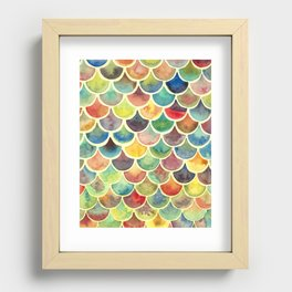 Colorful Scales Recessed Framed Print