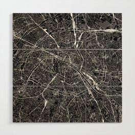 Paris Black Map Wood Wall Art