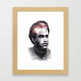 Huey Percy Newton (2/17/1942 – 8/22/1989) Framed Art Print