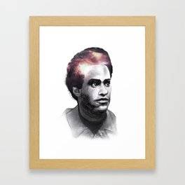 Huey Percy Newton (2/17/1942 – 8/22/1989) Framed Art Print
