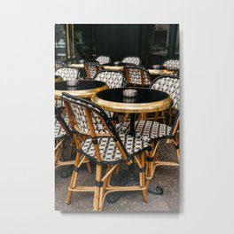 Paris Cafe VII Metal Print