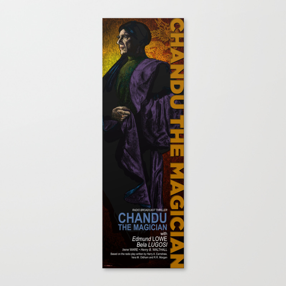 Chandu The Magician Movie Poster Reimagined Canvas Print by Woofang CNV8730921