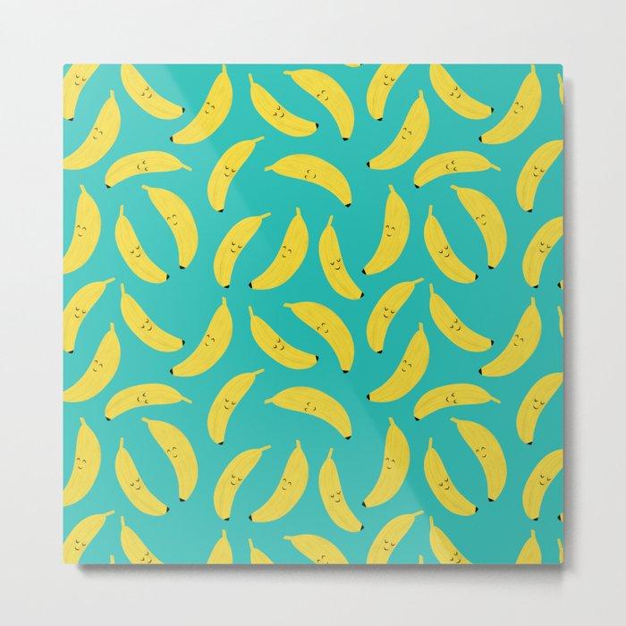 Happy Bananas Metal Print