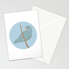 Blue Fallow Pacific Parrotlet Stationery Cards