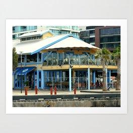 The blue Restaurant Art Print