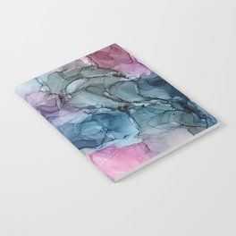 Heavenly Pastels: Original Abstract Ink Painting Notebook