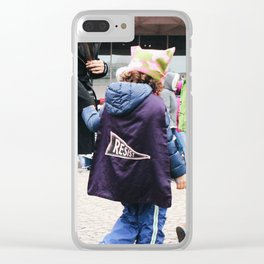 Children at the Women's March Clear iPhone Case