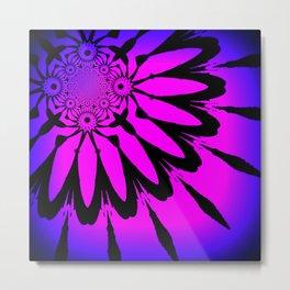 The Modern Flower Fuchsia Purple Ombre Metal Print