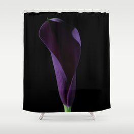 The Calla Purple 3 Shower Curtain
