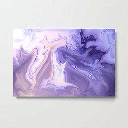 Violet Static Metal Print