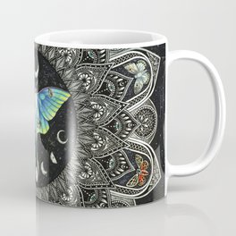 Lunar Moth Mandala with Background Coffee Mug