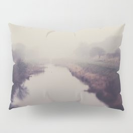 true beauty is a foggy landscape in the English Fens. Pillow Sham