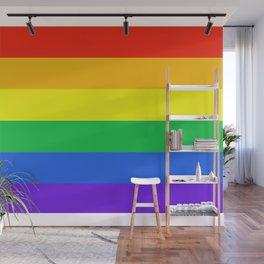 Rainbow Pride Horizontal Stripe Pattern Wall Mural