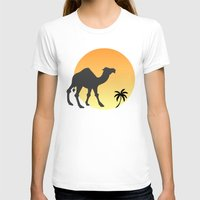 camel T-shirts featuring Camel by Geni