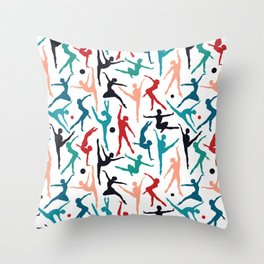 TANSI Colourful dancers pattern Throw Pillow