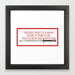 Best Way to a Man's Heart Framed Art Print