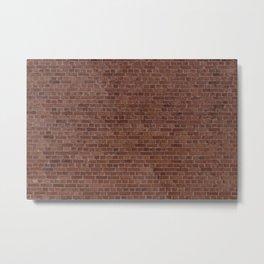 Brooklyn NYC Loft Apartment Brown Stone Brick Wall Metal Print