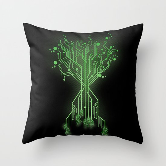 CircuiTree Throw Pillow