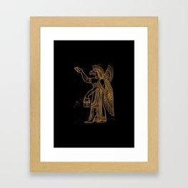 Ancient Bird Man Framed Art Print
