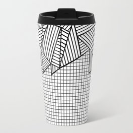 Grids and Stripes Travel Mug
