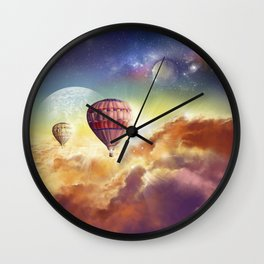 clouds,sky and ballons Wall Clock