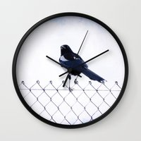 pie Wall Clocks featuring Pie by Clémence Aresu