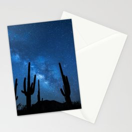 Joshua Tree, Mojave Desert Under Stars, Night Stationery Cards