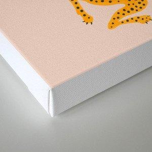 Leopard Race - pink Canvas Print