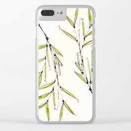 Bamboo Shoot Clear iPhone Case