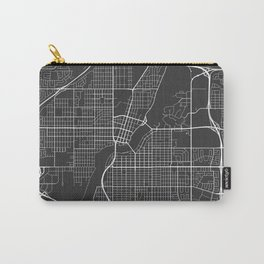 Saskatoon Map, Canada - Gray Carry-All Pouch