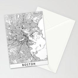 Boston White Map Stationery Cards