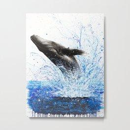 Whale Waves Metal Print