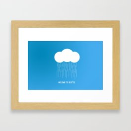 Simplistic Seattle  Framed Art Print