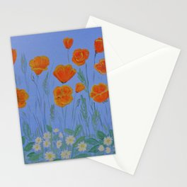 Poppies And Primroses Stationery Cards
