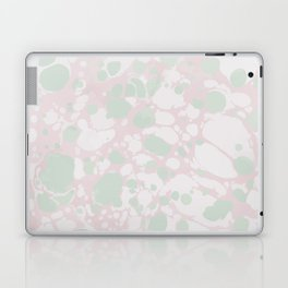 Pastel Paint Spill Pattern Green, Pink, White Laptop & iPad Skin