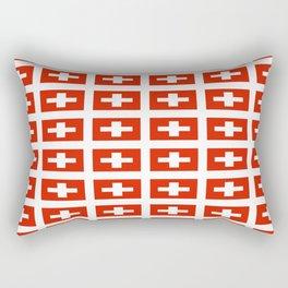 flag of Switzerland -,Swiss,Schweizer, Suisse,Helvetic,zurich,geneva,bern,godard,heidi Rectangular Pillow