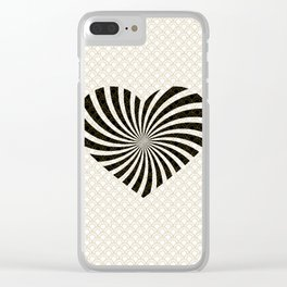 Gold Black White Great Gatsby Heart Clear iPhone Case