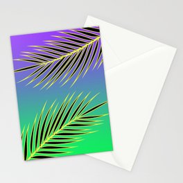 PALM PURPLE/GREEN Stationery Cards