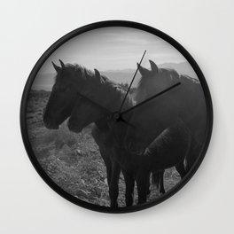 Desert Horses Wall Clock