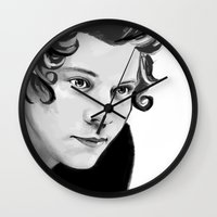 harry Wall Clocks featuring Harry by GirlApe