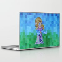 8bit Laptop & iPad Skins featuring 8bit Zelda by Cariann Dominguez