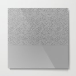 Combo light grey abstract pattern . Metal Print
