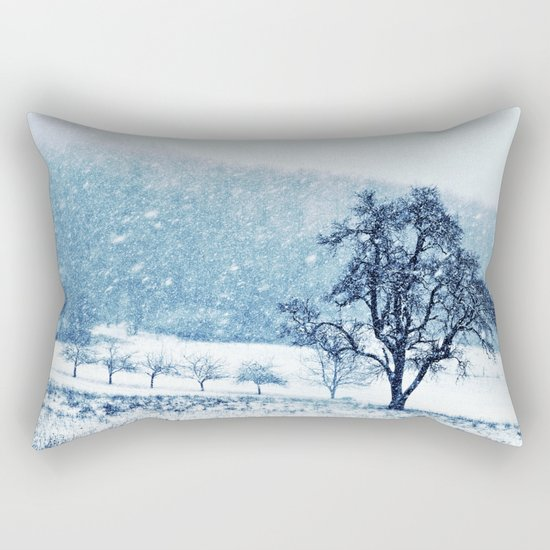 Old pear tree (cool edition) Rectangular Pillow