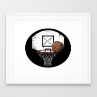 basketball Framed Art Prints featuring basketball by Penfishh