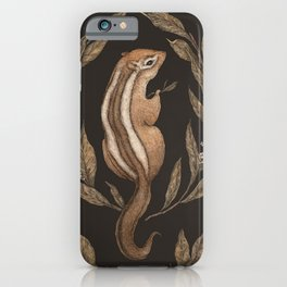 The Chipmunk and Bay Laurel iPhone Case