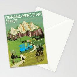 Chamonix-Mont-Blanc,France travel poster. Stationery Cards