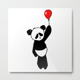 SAD PANDA balloon Metal Print