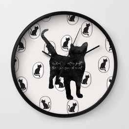 What Greater Gift Than The Love Of A Cat Wall Clock