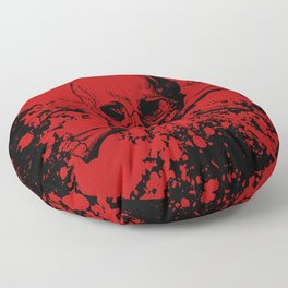 Skull and Crossbones Splatter Pattern Floor Pillow