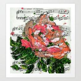 Phantom - Floral - Piano notes Art Print